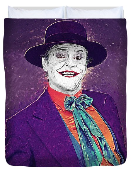The Joker Duvet Cover by Taylan Apukovska