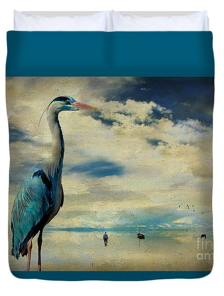Duvet Cover featuring the photograph The Journey ... by Chris Armytage