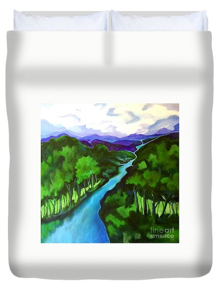 The Journey Duvet Cover by Alison Caltrider