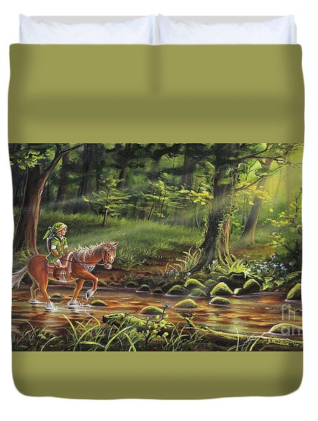 The Journey Begins Duvet Cover