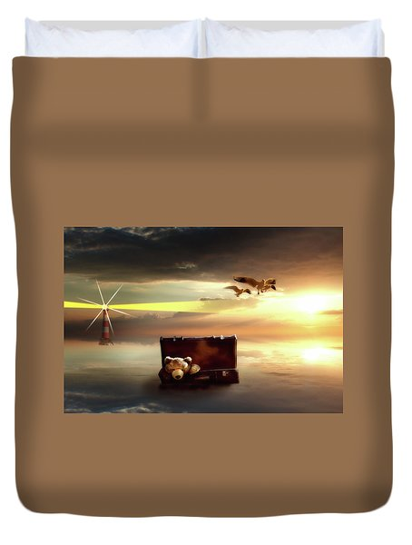 The Journey Begins  Duvet Cover by Nathan Wright
