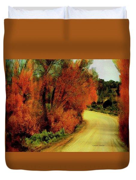 The Journey Home Duvet Cover by Lenore Senior