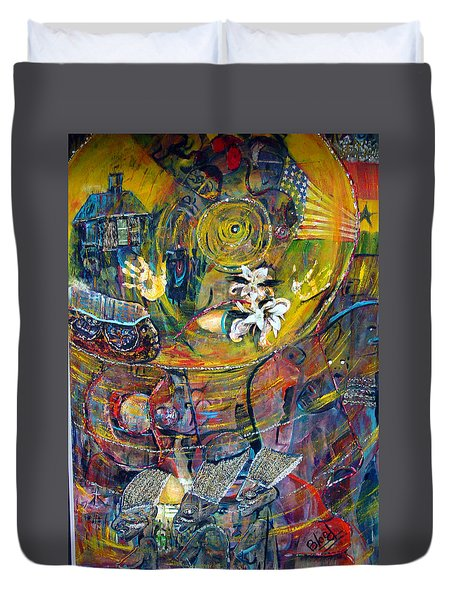 The Journey Duvet Cover by Peggy  Blood