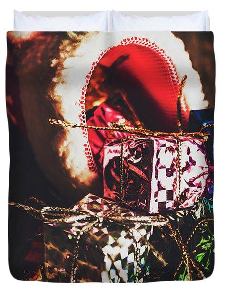 The Joy Of Giving On Christmas Duvet Cover