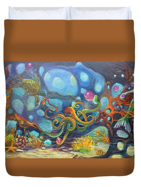 The Juggler Duvet Cover