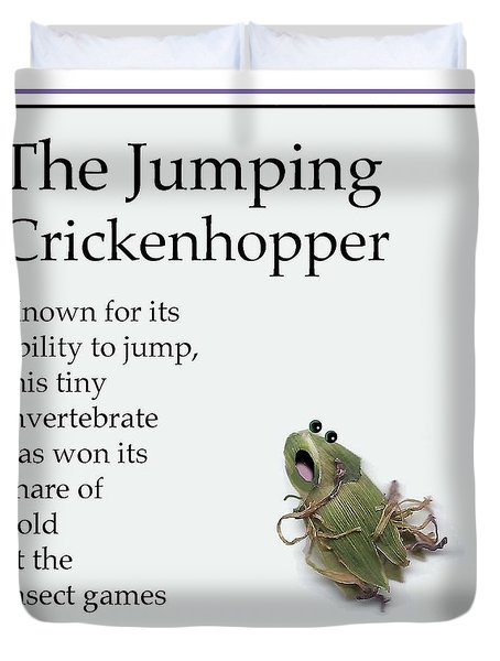 The Jumping Crickenhopper Duvet Cover