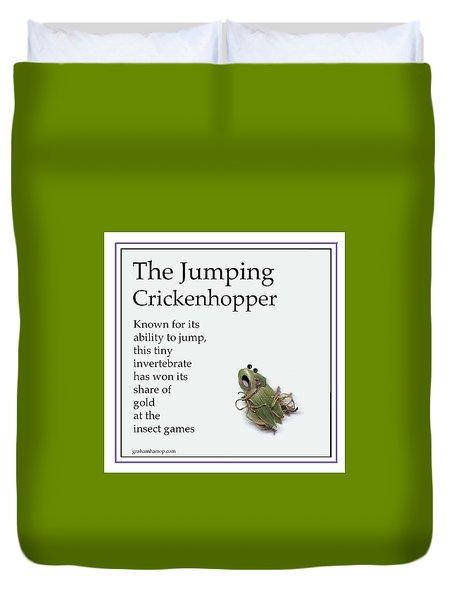 The Jumping Crickenhopper Duvet Cover