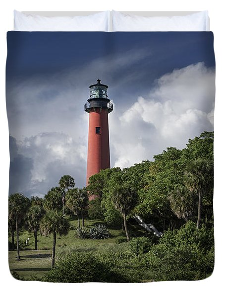 The Jupiter Inlet Lighthouse Duvet Cover