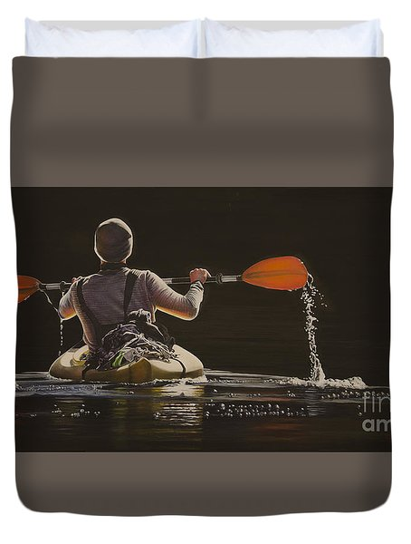 The Kayaker Duvet Cover
