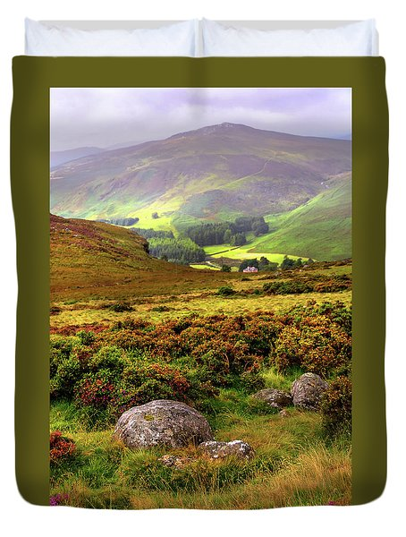 Duvet Cover featuring the photograph The Keeper Of Legends by Jenny Rainbow
