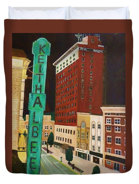 The Keith Albee Theater Duvet Cover by Christy Saunders Church
