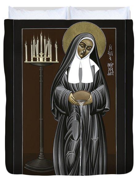 The Kenosis Of St Bernadette Of Lourdes 063 Duvet Cover