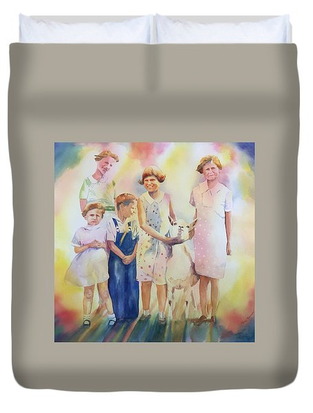 The Kids And The Kid Duvet Cover