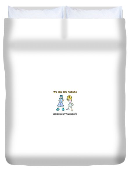 Duvet Cover featuring the digital art The Kids Of Tomorrow Toby And Daphne by Shawn Dall