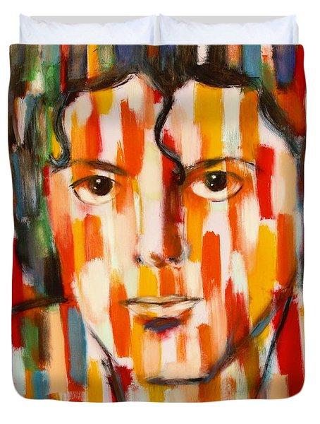 the king of pop Michael Jackson Duvet Cover by Habib Ayat