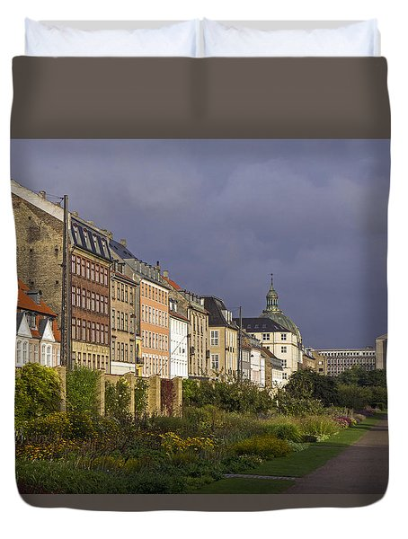 Duvet Cover featuring the photograph The Kings Garden by Inge Riis McDonald