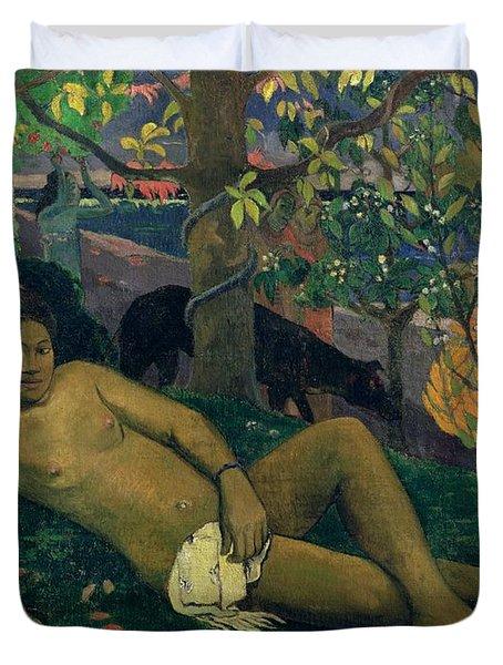 The Kings Wife Duvet Cover by Paul Gauguin