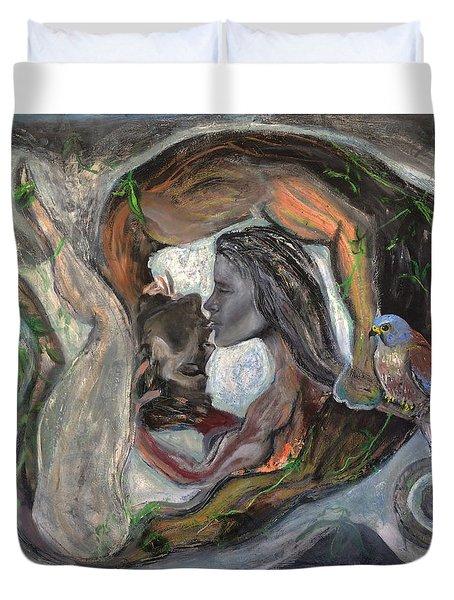 The Kiss  Duvet Cover by Antonio Ortiz