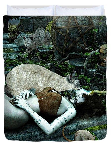 The Kiss Duvet Cover by Jutta Maria Pusl