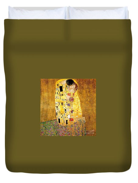 The Kiss Duvet Cover by Klimt