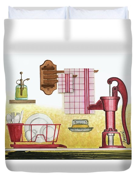 The Kitchen Sink Duvet Cover