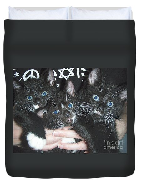 The Kittidiots Duvet Cover