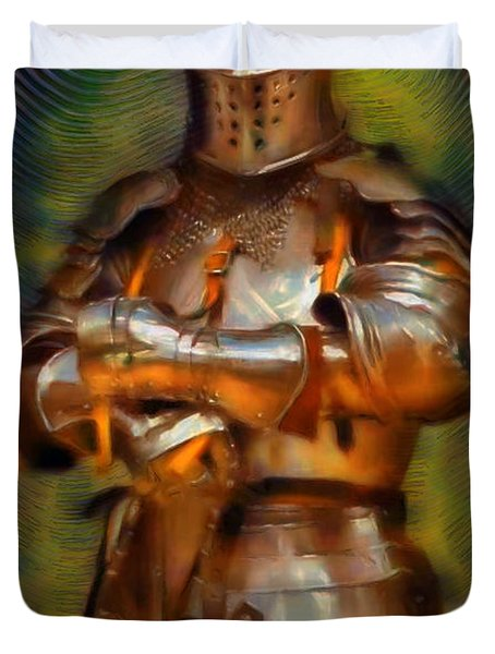 The Knight In Shining Armor Duvet Cover