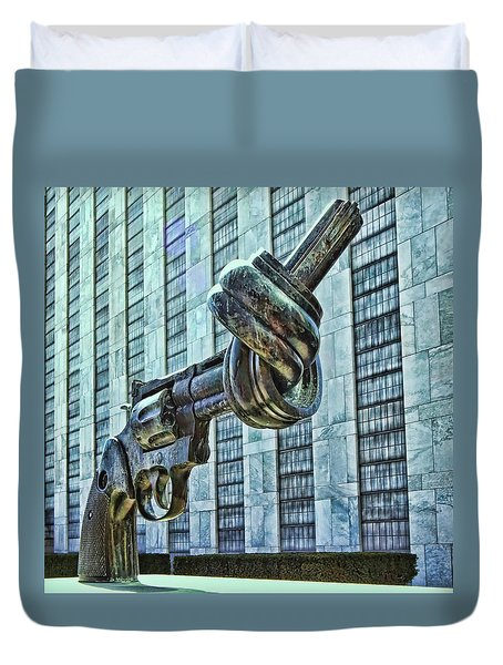 The Knotted Gun Duvet Cover