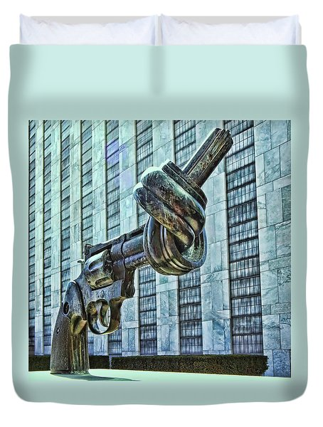 The Knotted Gun Duvet Cover by Allen Beatty