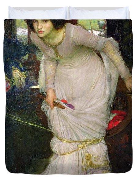 The Lady Of Shalott Duvet Cover by John William Waterhouse