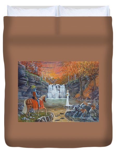 The Lady Of The Lake Duvet Cover