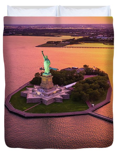 The Lady On The Island Duvet Cover