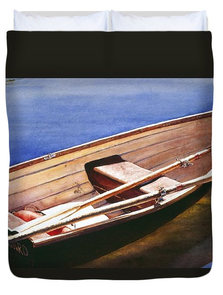 The Lake Boat Duvet Cover