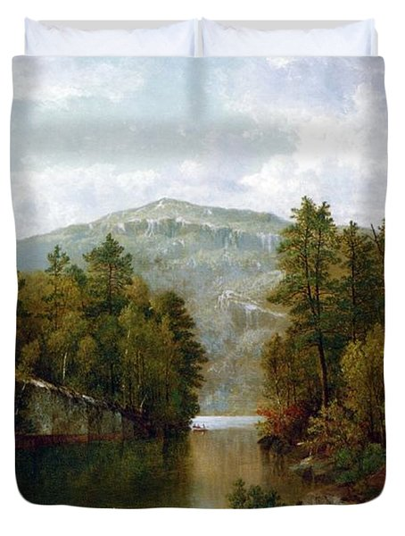The Lake George Duvet Cover by David Johnson