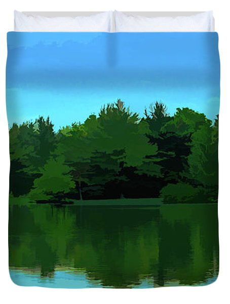 The Lake - Impressionism Duvet Cover