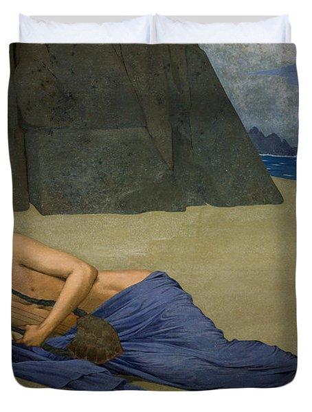 The Lamentation Of Orpheus Duvet Cover by Alexandre Seon