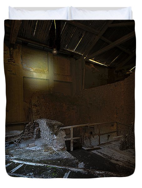 The Lamp Of The Abandoned Furnace Quarry  Duvet Cover
