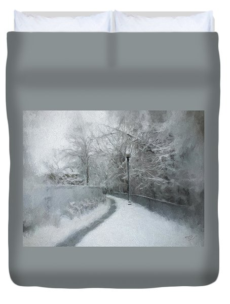 The Lamppost Duvet Cover