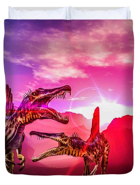 The Land Before Time 1 Duvet Cover by Naomi Burgess