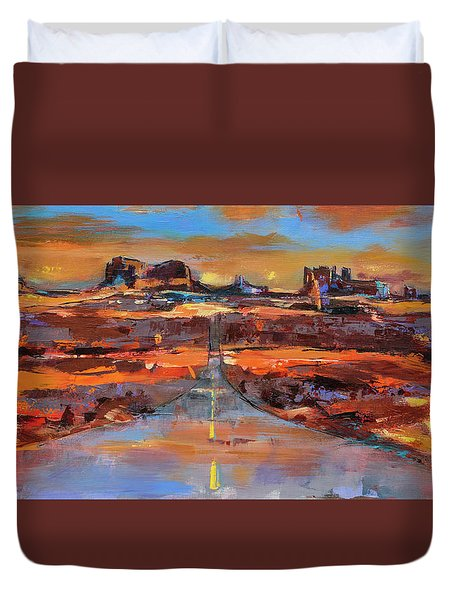 The Land Of Rock Towers Duvet Cover