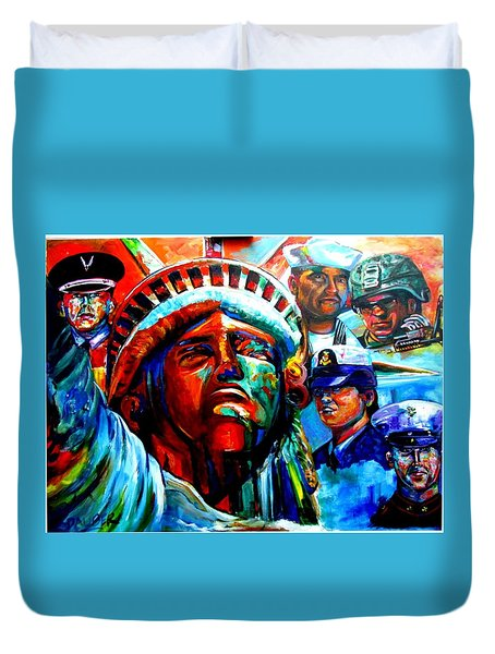 The Land Of The Free  Duvet Cover