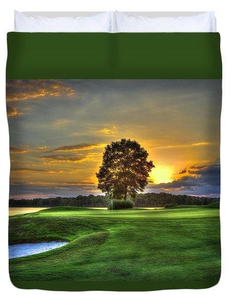 The Landing Golf Course Reynolds Plantation Landscape Art Duvet Cover