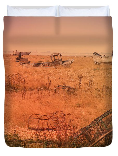 The Landscape Of Dungeness Beach, England 2 Duvet Cover