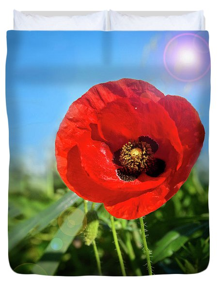 The Large Poppy Duvet Cover by Stephan Grixti