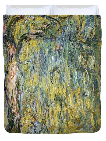 The Large Willow At Giverny Duvet Cover