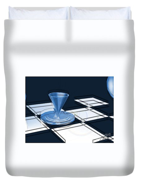 The Last Chess Pawn Duvet Cover