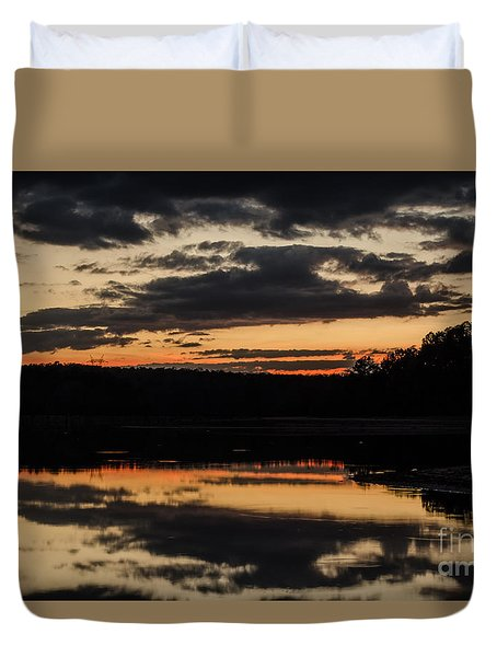 The Last Glow Duvet Cover by Donna Brown