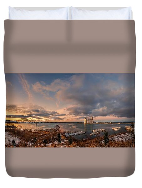 The Last Ice On The Bay Duvet Cover by Jeff S PhotoArt