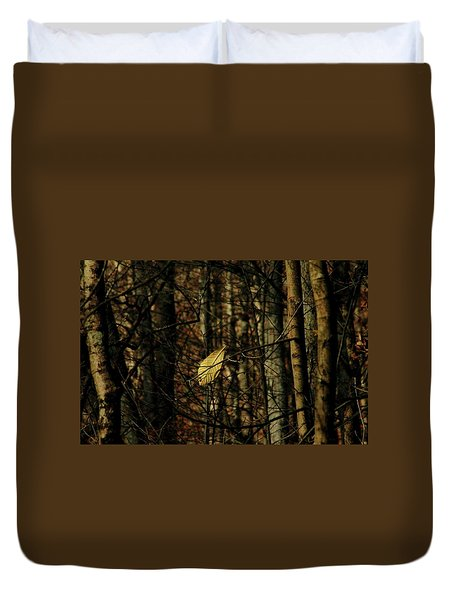 Duvet Cover featuring the photograph The Last Leaf by Bruce Patrick Smith