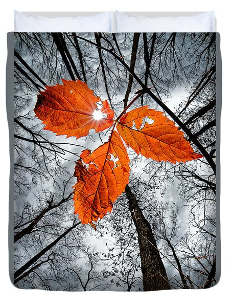The Last Leaf Of November Duvet Cover